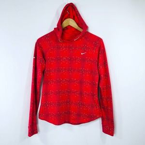 Nike Womens Dri Fit Running Print Pullover Hoodie Sweatshirt Sz M